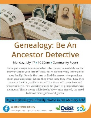 Genealogy: Be an Ancestor Detective